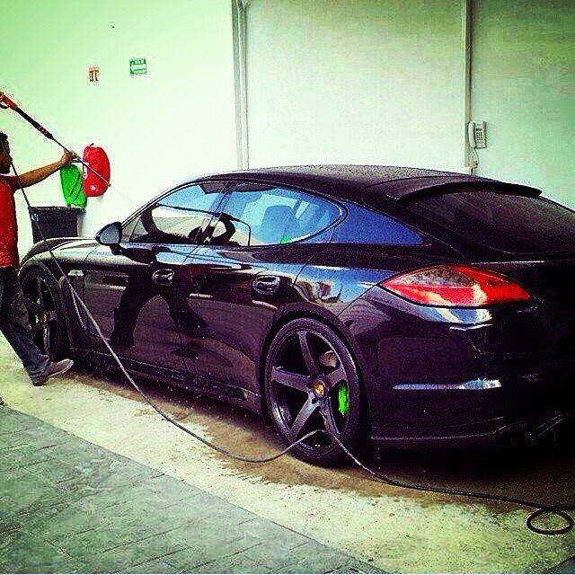 Black on Black Porsche Panamera on CW5's