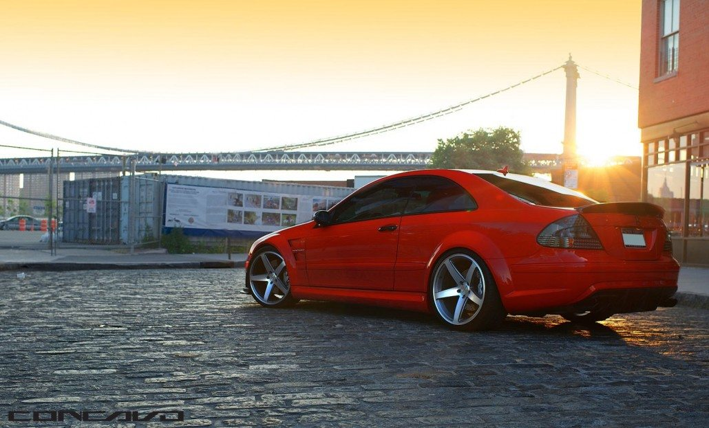 Mercedes CLK63 AMG Black Series on CW-5's – Concavo Wheels