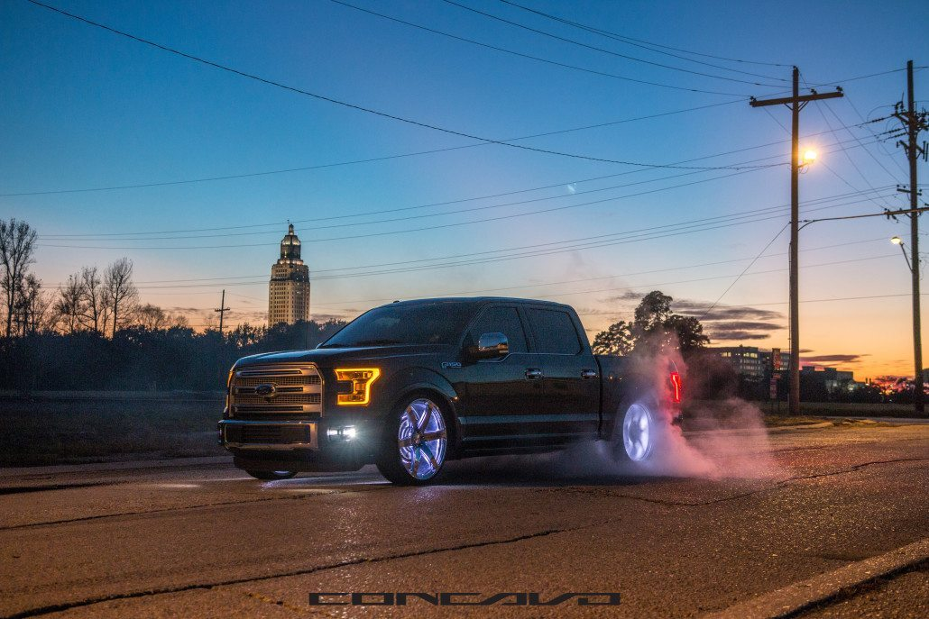 Ford F150 Rims >> Ford F150 on 26″ Chrome CW6 – Concavo Wheels