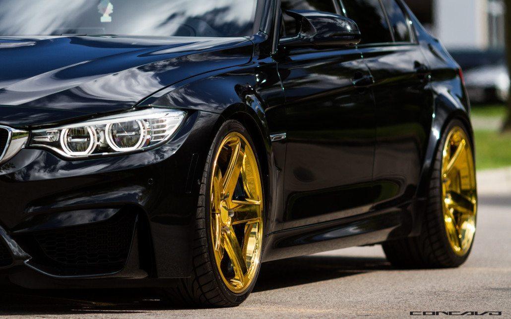 Bmw M3 On 20 Dubai Gold Cw 5 Concavo Wheels